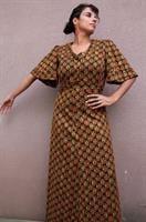 שמלת וינטג' אתנית קלאסית רקומה  מידה L