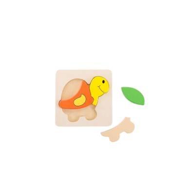 פאזל עץ בסיסי- צב