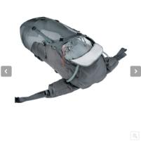 תיק ביניים לטיולים נשים אפור Deuter Aircontact Lite 60+10 SL