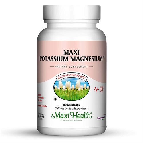 -- מגנזיום בתוספת אשלגן -- 90 כמוסות Maxi Health