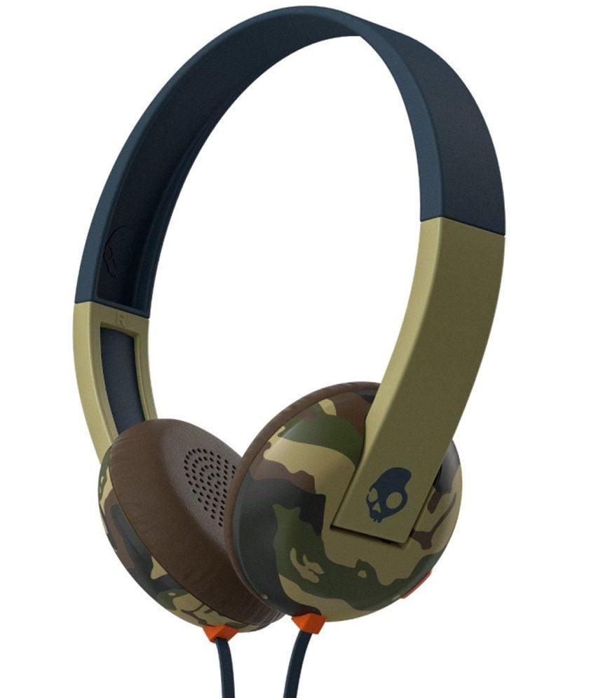 אוזניות קשת עם מיקרופון כחול/ירוק Skullcandy UPROAR