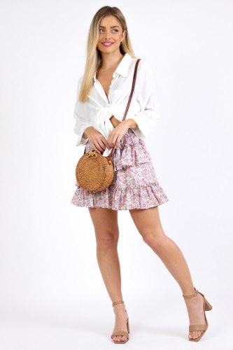 חצאית אשלי סגולה