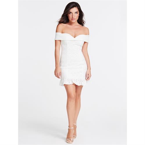 שמלת תחרה GUESS לבנה
