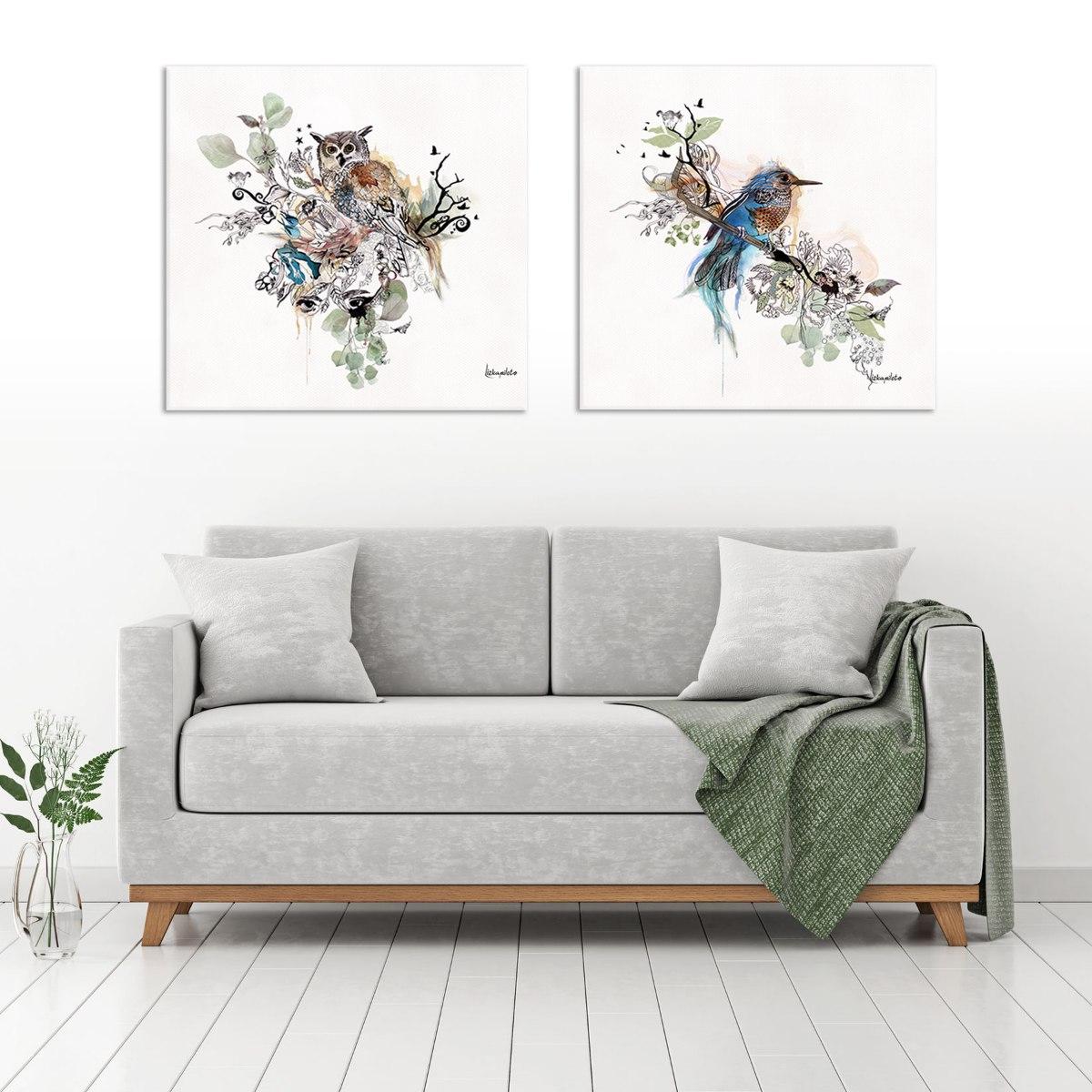 תמונה של ציפור צבעי מים