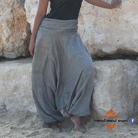 מכנסי אלאדין כותנה נפאלית אפור