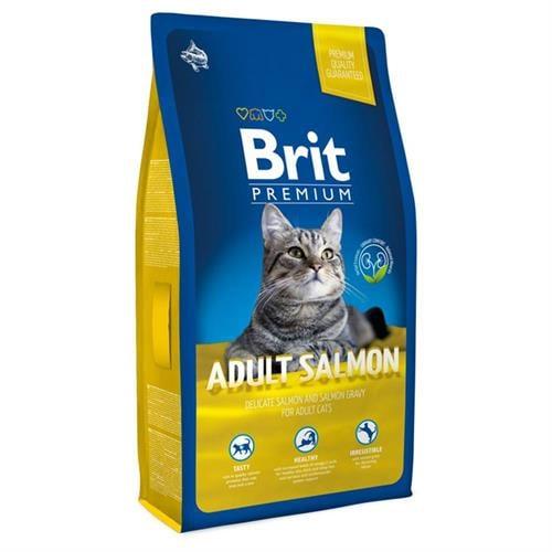 """מזון לחתול סלמון בריט פרימיום  סלמון 8 ק""""ג"""