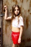 שורט דמוי עור MISS KIDS אדום - 2-18