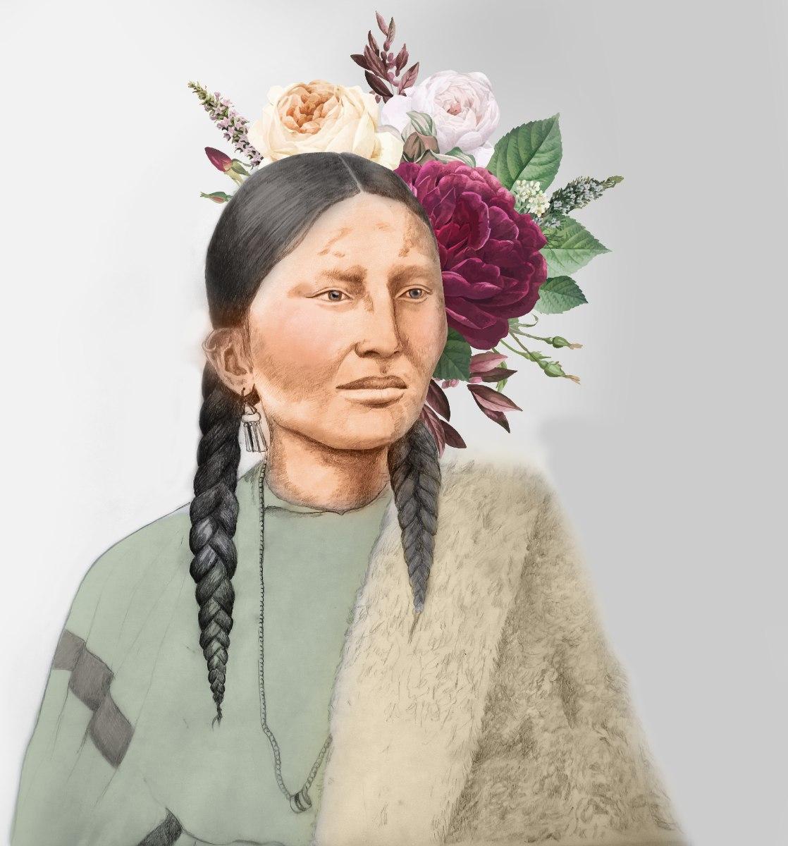 הלוחמת האינדיאנית פרטינוז-הדפס קנבס