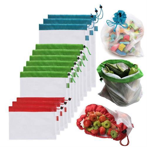 5 שקיות רב פעמיות לשמירה טריות הירקות והפירות