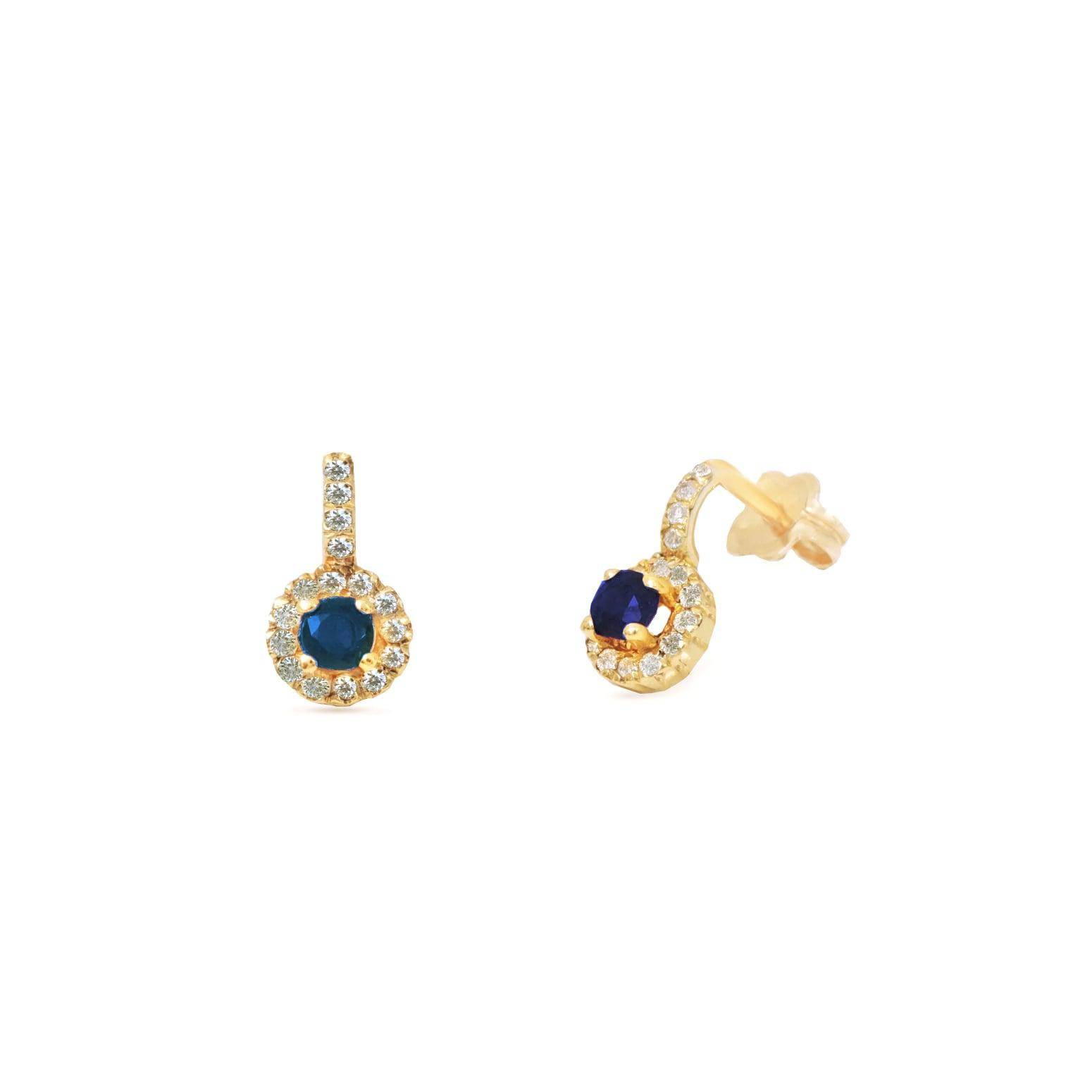 עגילי יהלומים ואבני חן נתלים