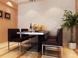 חיפויי קיר תלת מימדי דגם ''peony'' בגודל 50X50