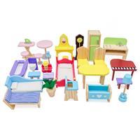 בית בובות עץ לילדים ורוד דגם נועה W06A358