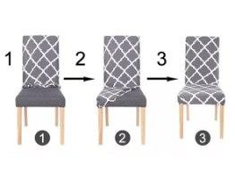 כיסויים אלסטיים מעוצבים לכיסאות במבחר דגמים