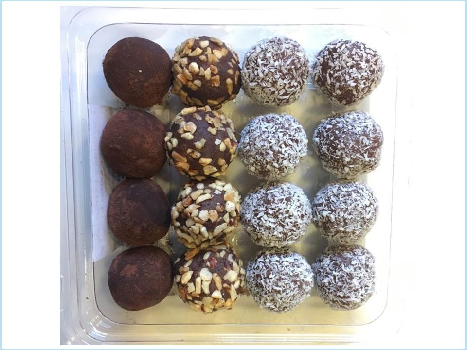טראפלס שוקולד ואגוזי לוז - מוצר לפסח (חשש קטניות)