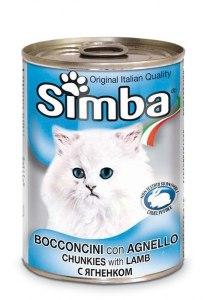 שימור מזון מלא לחתולים סימבה עם בשר כבד  400 גרם - SIMBA CHUNKS WITH LAMB 400G