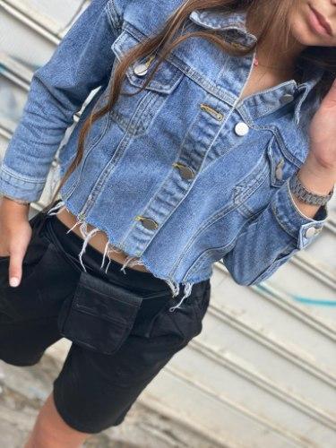ג'קט ג'ינס בהיר פרנזים