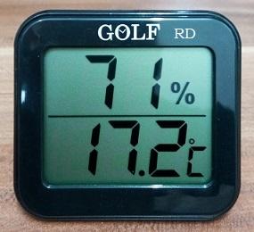 מד חום ולחות לחדר GOLF דיגיטלי