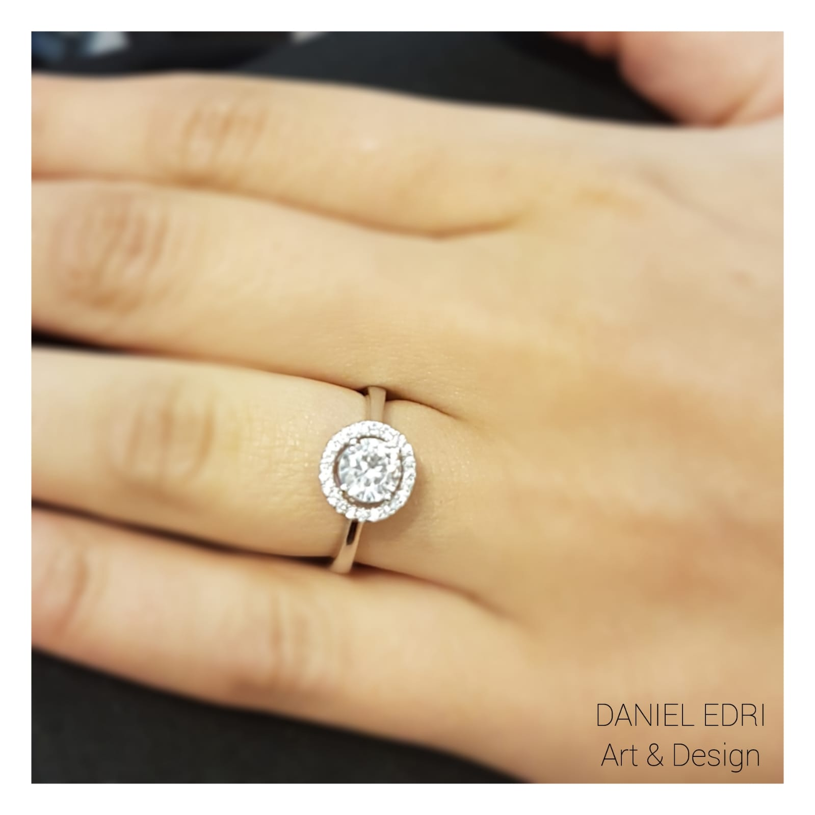 טבעת סוליטר כסף