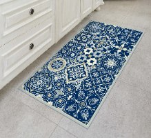 שטיח פי.וי.סי אקלקטי כחול מלכותי TIVA DESIGN קיים בגדלים שונים