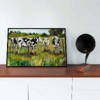 הדפס על קנבס פרות באחו
