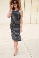 שמלת פס מקסי