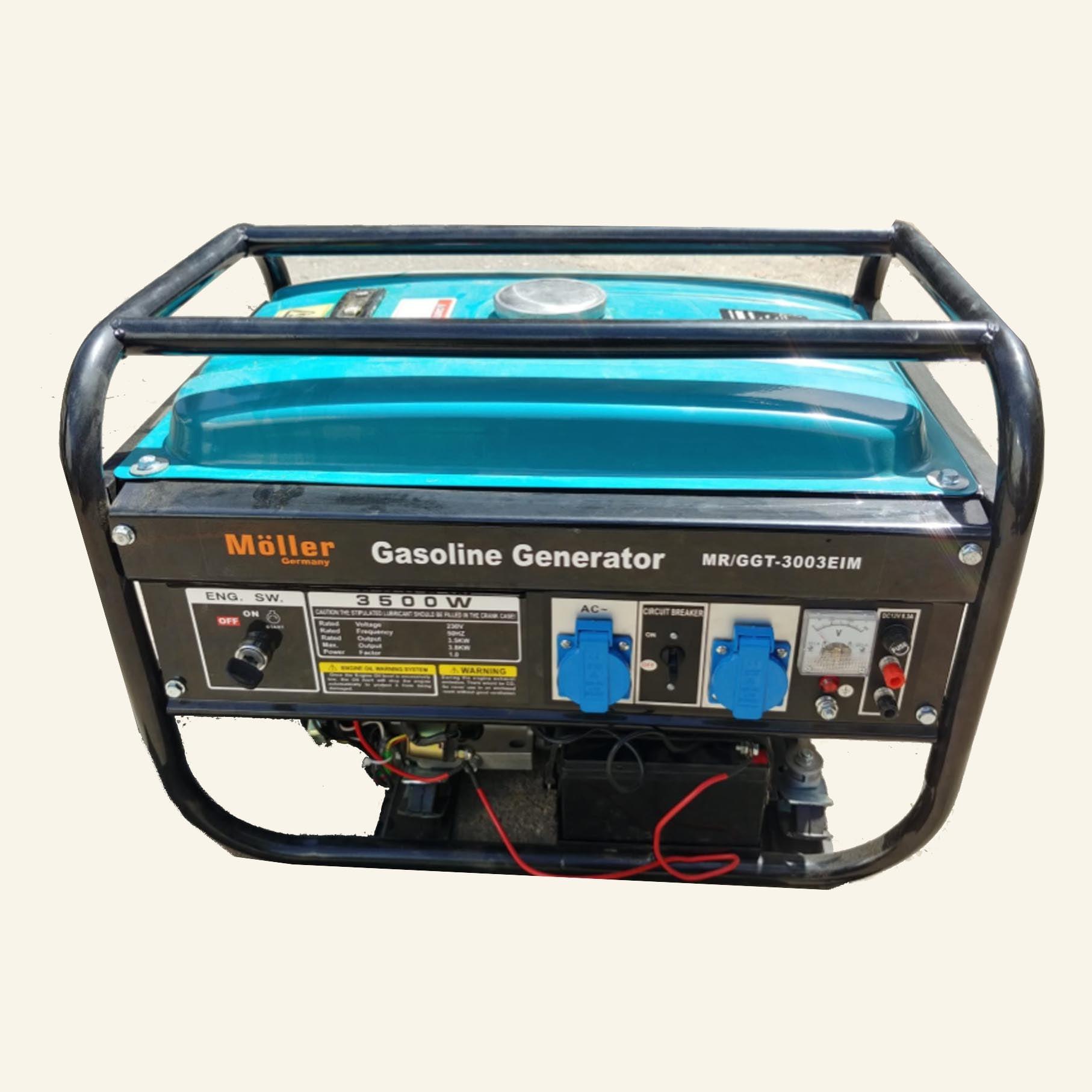 גנרטור מנוע בנזין  3500W התנעה חשמלית חד-פאזי מבית MOLLER GERMANY