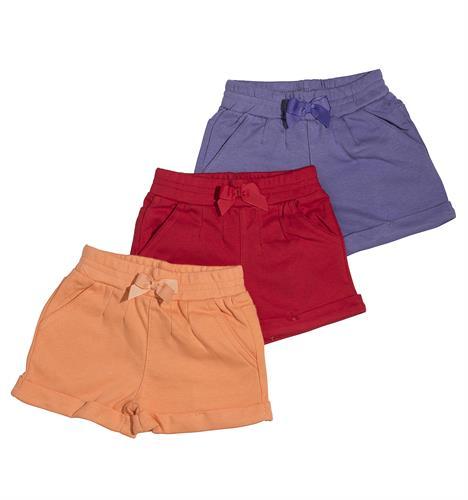 שלישיית מכנסיים 4452 סגול - אדום - כתום
