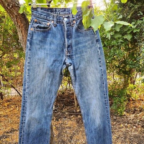 ג'ינס ליוויס כחול 501 כפתורים מידה S