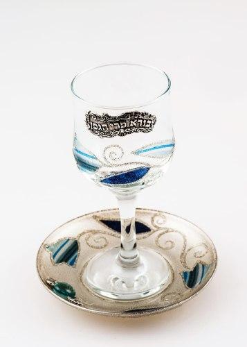 גביע קידוש זכוכית דגם טוליפ