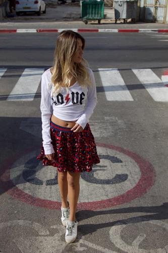 חצאית פרינט