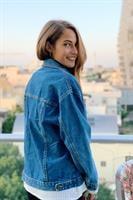 ג'קט ג'ינס דל ריי כחול כהה