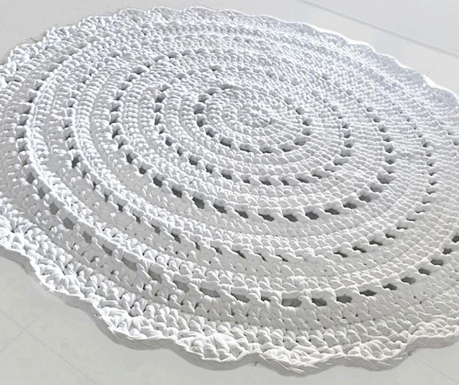 שטיחים סרוגים, שטיח סרוג, שטיח דוגמת תחרה שטיח תחרה, שטיח עגול סרוג , עיצוב הבית, שטיחים, שטיח בהזמנה