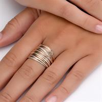 טבעת ספירלי אדום לבן