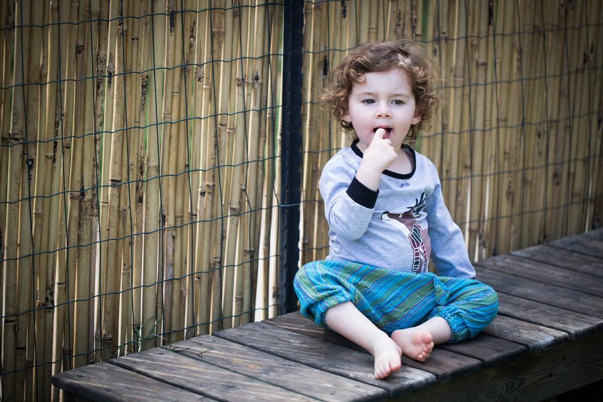 מכנסי אלאדין ילדים כחול פסים