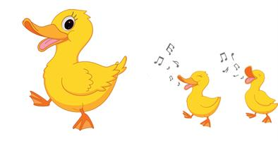 2 יח' טפט להדבקה על דלת כוורת (KALLAX)- משפחת ברווזים
