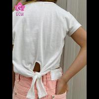 חולצה עם קשירה בגב