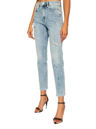 ג'ינס בהיר גבוה קרעים  GUESS IT GIRL