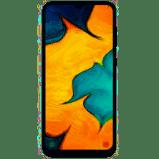 """סמארטפון samsung galaxy דגם A30 מסך ללא גבולות 6.4"""" נפח אחסון 64GB מצלמה 16MP זיכרון 4GB RAM שנה אחר"""