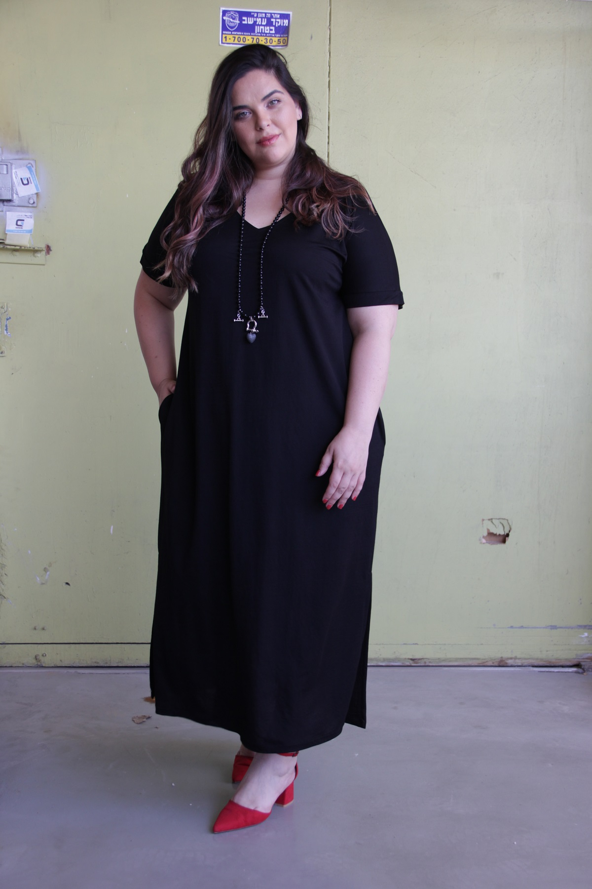 שמלת דריה קיץ שחור