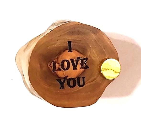 קופסא עץ זית לטבעת MM014