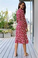 שמלת רוקסן פרחונית מעטפת מידי