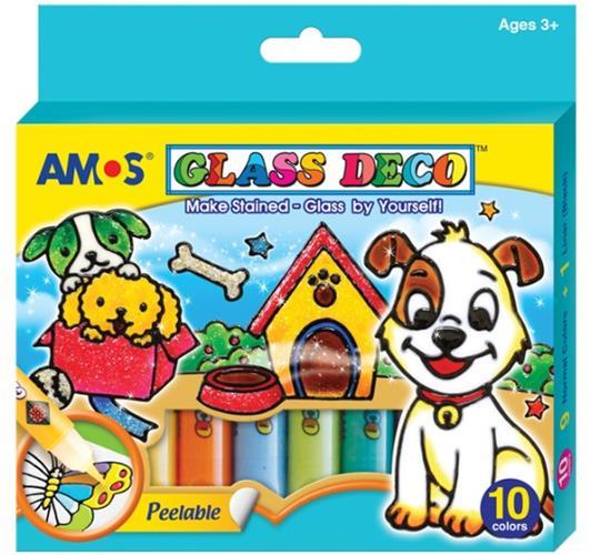 צבעי חלון AMOS - סט 10 גוונים