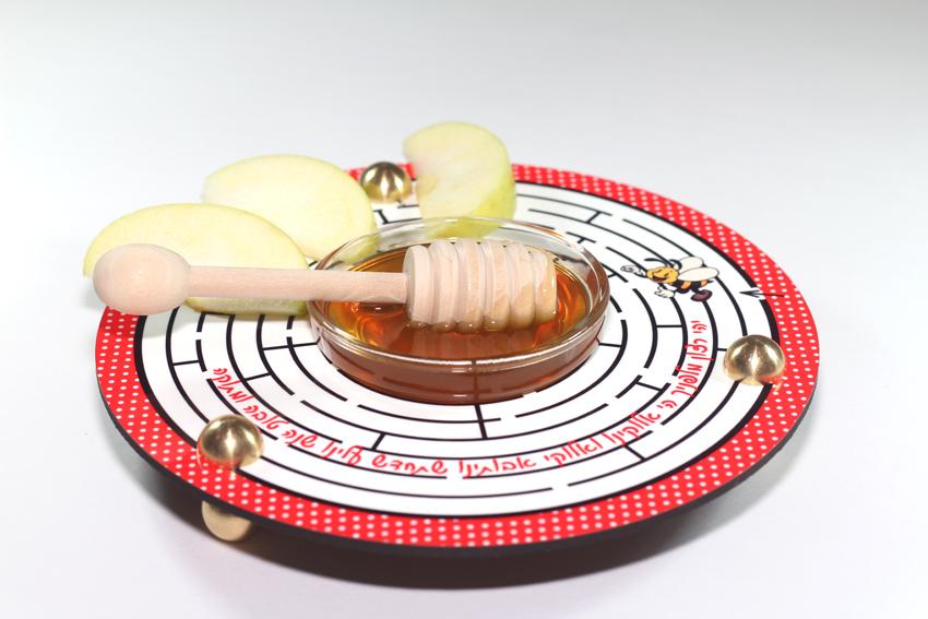 כלי לדבש ותפוחים מבוך הדבורה Dvash_03