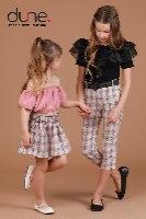 סט חצאית עם חולצת סטרפלס