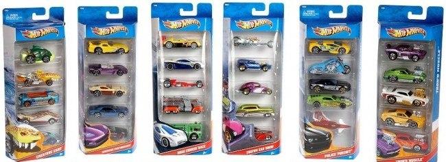 הוט ווילס מארז 5 מכוניות