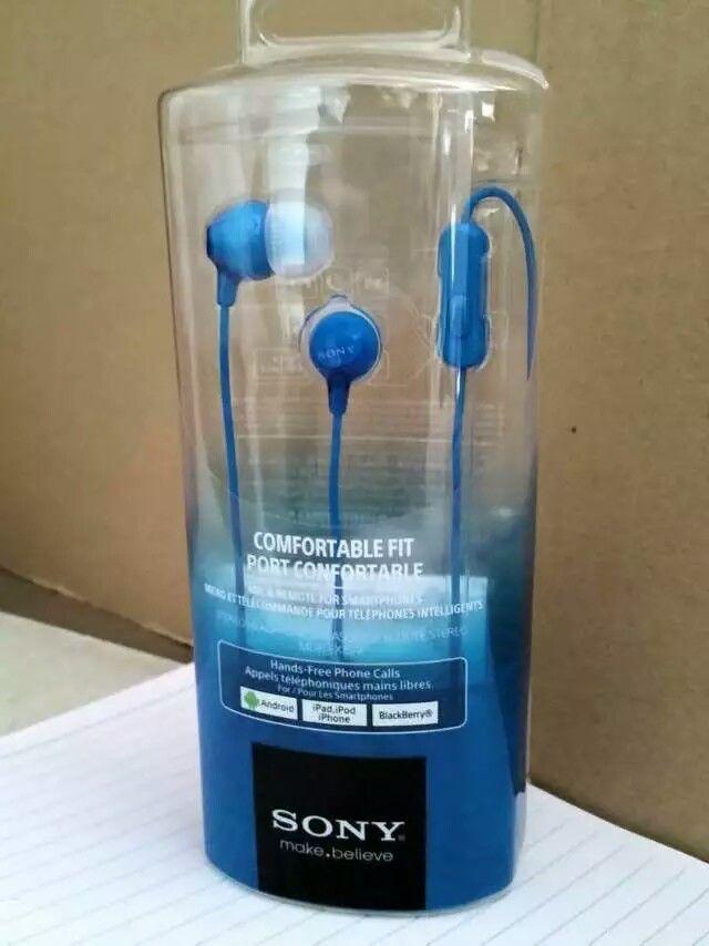 אוזניות ספורט מקצועיות מקוריות Sony MDR-EX15 כחולות