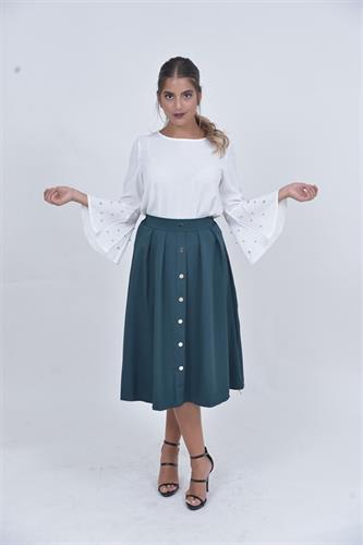 חצאית פריז ירוקה