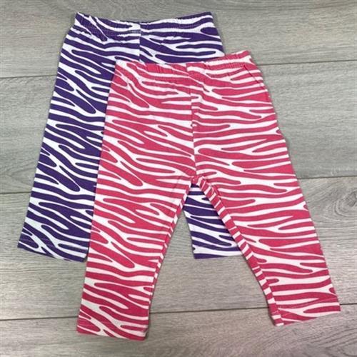 זוג מכנסי לייקרה ארוך זברה סגול ורוד