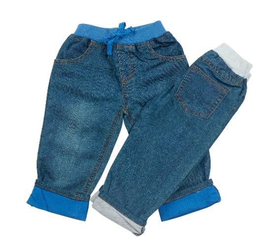 זוג מכנסי ג'ינס תכלת ולבן