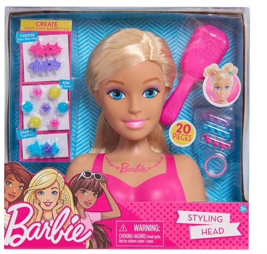 בובת ברבי ראש עיצוב שיער